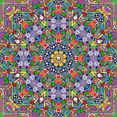 Digital Art - Teddy Bear Tears 1255k8 by Brian Gryphon