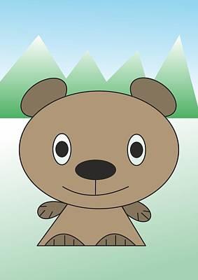 teddy  bear - My WWW vikinek-art.com Art Print
