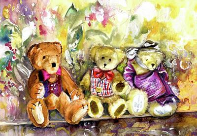 Painting - Teddy Bear Wedding At Newby Hall 01 by Miki De Goodaboom