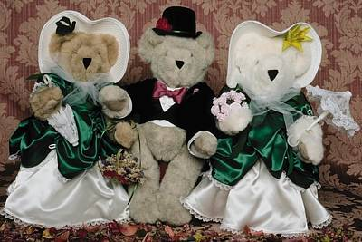 Photograph - Teddy Bear Wedding by Mary J Tait