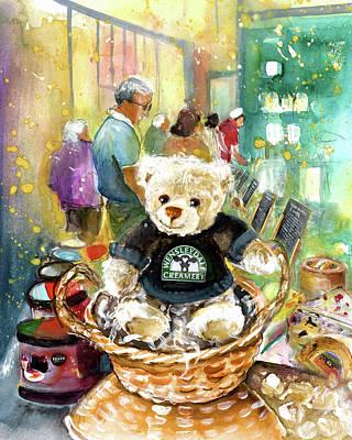 Painting - Teddy Bear Wensley At Wensleydale Creamery by Miki De Goodaboom