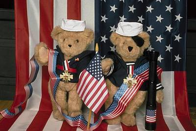 Photograph - Teddy Bears In America by Mary J Tait