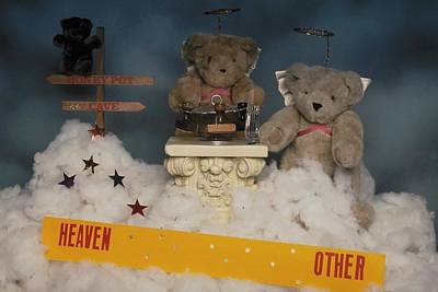 Photograph - Teddy Bears In Heaven by Mary J Tait