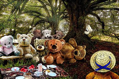 Digital Art - Teddy Bears Picnic by Al G Smith