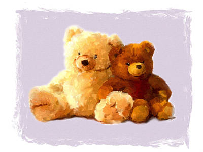 Painting - Teddy Bears Still Life by Jai Johnson