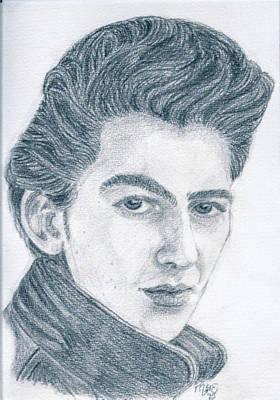 Scouse Drawing - Teddy Boy George by Chantal De Paus