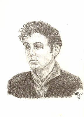 Hamburg Drawing - Teddy Boy Paul by Chantal De Paus
