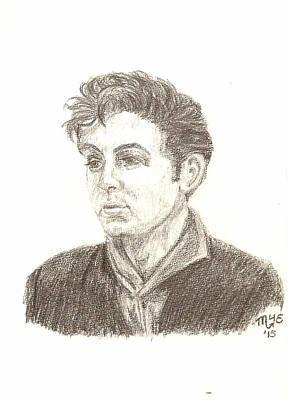 Mccartney Drawing - Teddy Boy Paul by Chantal De Paus