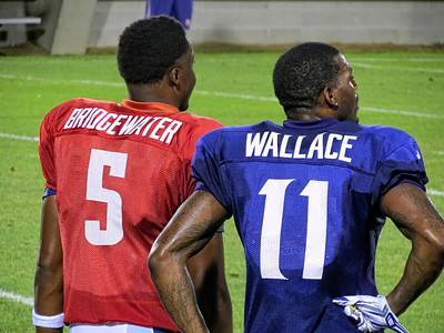 Photograph - Teddy Bridgewater And Mike Wallace by Kyle West