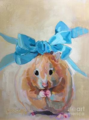Hamster Painting - Teddy by Kimberly Santini