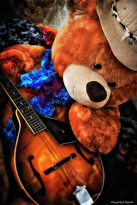 Photograph - Teddy Musician 01 by Kevin Chippindall