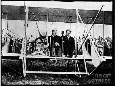Photograph - Teddy Roosevelt - 1st President To Fly In A Plane by Merton Allen