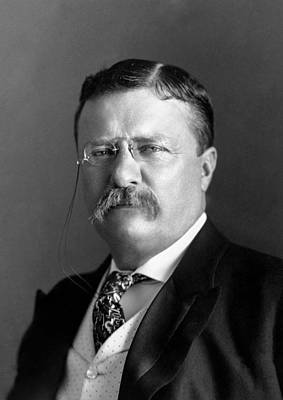 Photograph - Teddy Roosevelt Portrait - 1904 by War Is Hell Store