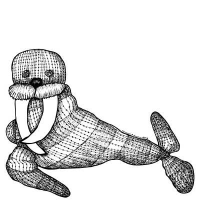Teddy Walrus Art Print by Karl Addison