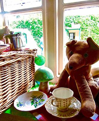 Photograph - Teddy With Teacup And Toadstool by Stephanie Moore