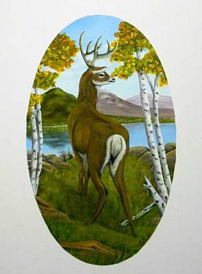 Painting - Teddy's Deer by Sheri Keith