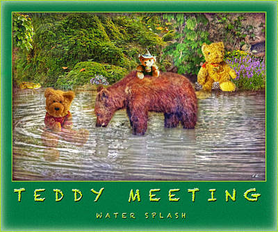 Photograph - Teddy's Water Splash by Hanny Heim