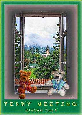 Photograph - Teddy's Window Chat by Hanny Heim