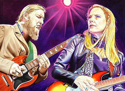 Painting - Tedeschi Trucks by Joshua Morton