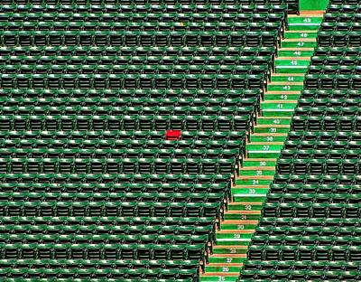 Redsox Photograph - Ted's Red Seat by Bart Blumberg