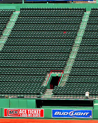 Ted's Red Seat In Context Art Print by Bart Blumberg
