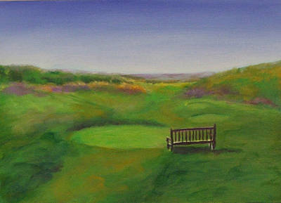 Painting - Tee Hole 13 The Chute by Shannon Grissom