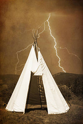 Photograph - Tee Pee Lightning by James BO  Insogna