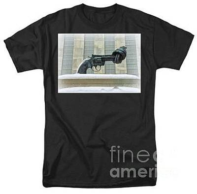Photograph - Tee-shirt - The Knotted Gun - Sculpture by Miriam Danar