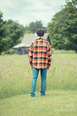 Flannel Photograph - Teen Angst by Edward Fielding