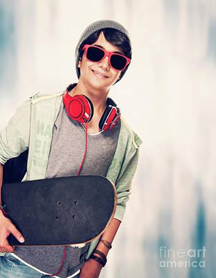 Photograph - Teen Skateboarder by Anna Om