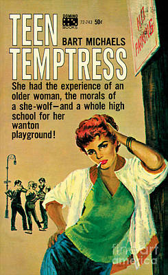 Painting - Teen Temptress by Harry Barton