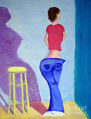 Painting - Teen With A Tude by Lisa Rose Musselwhite