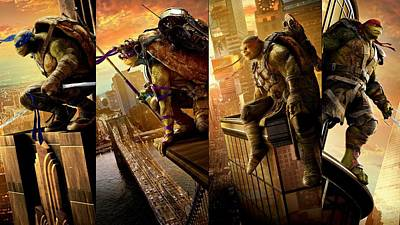Teenage Mutant Ninja Turtles Digital Art - Teenage Mutant Ninja Turtles Out Of The Shadows by Movie Poster Prints
