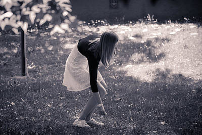 Photograph - Teenager Picking Flowers In The Meadows by Alfio Finocchiaro