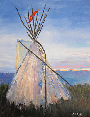 Painting - Teepee Dawn by Kathryn Barry