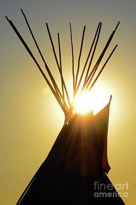 Photograph - Teepee Top by Bob Christopher