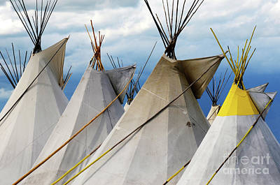 Photograph - Teepee Tops 1 by Bob Christopher