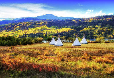 Photograph - Teepees By Lower Saint Mary Lake by Carolyn Derstine