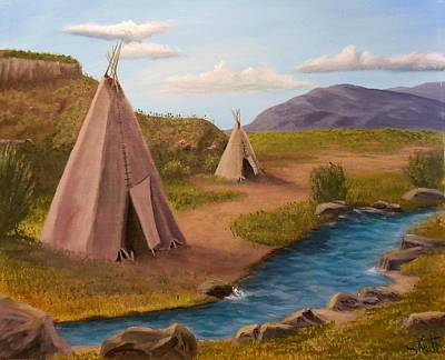 Painting - Teepees On The Plains by Sheri Keith