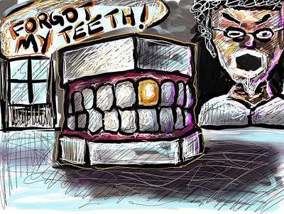 Digital Art - Teeth by Joe Bloch
