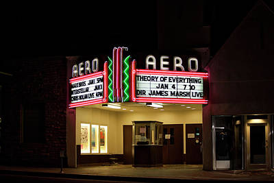 Photograph - The Aero Theater by Gene Parks