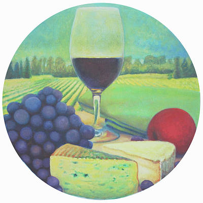 Italian Wine Painting - The Vineyard by Mark Manning