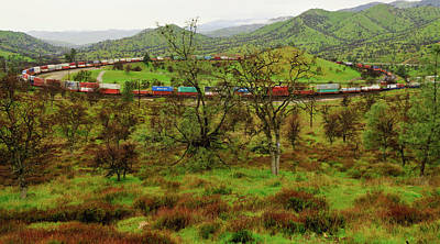 Photograph - Tehachapi Train Loop by Connie Cooper-Edwards