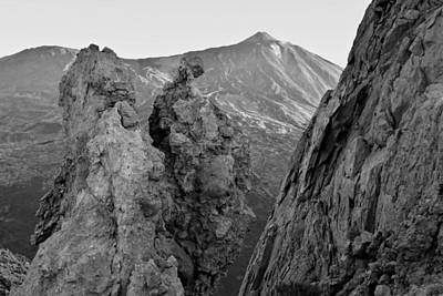 Photograph - Teide National Park Tenerife Black And White by Marek Stepan