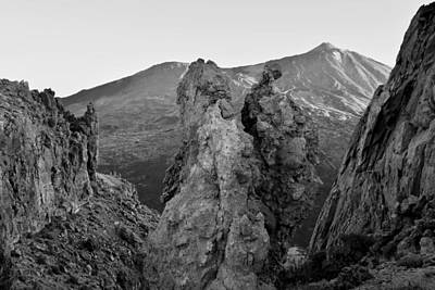 Photograph - Teide National Park Tenerife Monochrome by Marek Stepan