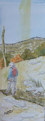 Painting - Tejas Trail Doodle by Joel Deutsch