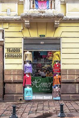 Photograph - Tejidos Y Bordados by Maria Coulson