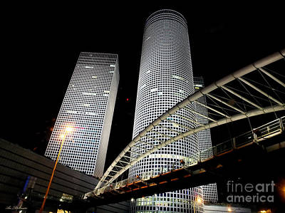 Photograph - Tel Aviv Azrieli Towers by Arik Baltinester