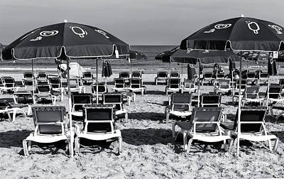 Photograph - Tel Aviv Beach Chairs by John Rizzuto