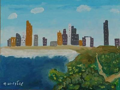 Tel Aviv Coastline Art Print by Harris Gulko